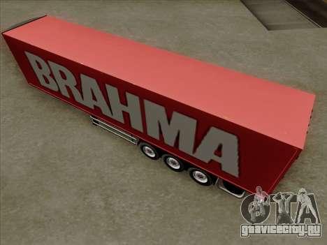 Прицеп для Scania R620 Brahma для GTA San Andreas вид сверху
