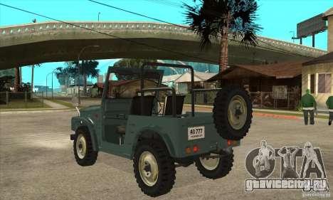 Suzuki Jimny для GTA San Andreas вид сзади слева