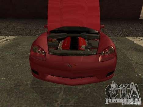 Chevrolet Corvette C6 для GTA San Andreas вид справа