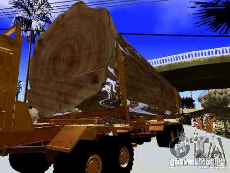 Прицеп к Hayes EQ 142 для GTA San Andreas вид сзади