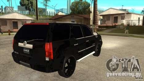 Cadillac Escalade Unique Autosport для GTA San Andreas вид справа