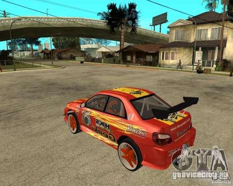 Subaru Impreza WRX STi D1 Spec для GTA San Andreas вид слева