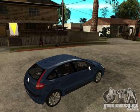 Citroen C4 SX 1.6 HDi для GTA San Andreas