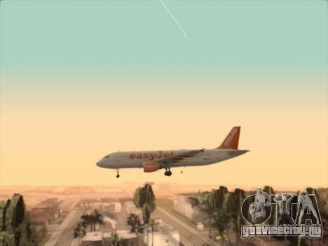 Airbus A320-214 EasyJet для GTA San Andreas вид сбоку