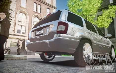 Jeep Grand Cheroke для GTA 4 вид изнутри