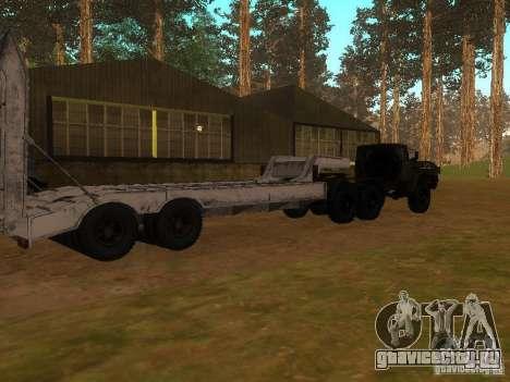Урал 4420 седельный тягач для GTA San Andreas вид изнутри