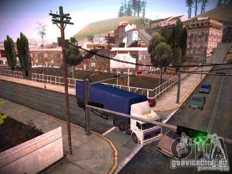 КамАЗ 54115 для GTA San Andreas вид сзади