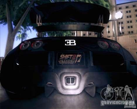 Bugatti Veyron Super Sport для GTA San Andreas вид сверху