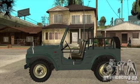 Suzuki Jimny для GTA San Andreas вид слева