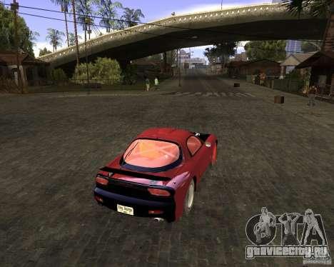 Mazda RX-7 Drifter для GTA San Andreas вид сзади слева