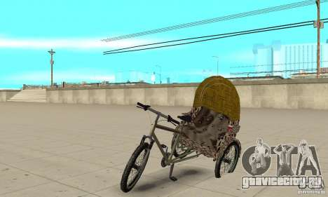 Manual Rickshaw v2 Skin4 для GTA San Andreas