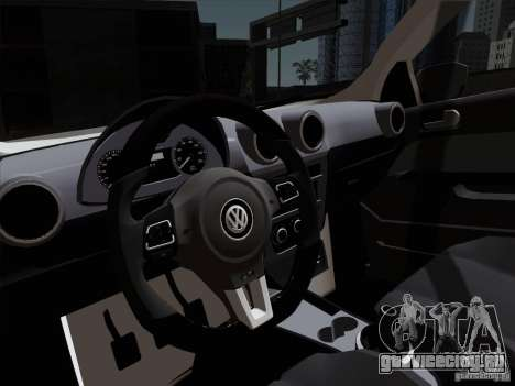 Volkswagen Golf G6 v3 для GTA San Andreas вид сзади