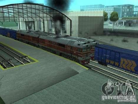 2ТЭ121-023 для GTA San Andreas вид сзади