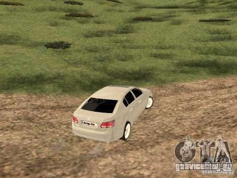 Lexus GS-350 для GTA San Andreas вид справа