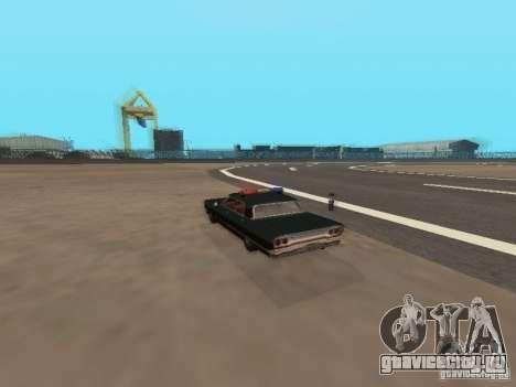 Police Savanna для GTA San Andreas вид сзади