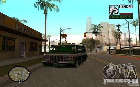 Grove Street Gang Burrito для GTA San Andreas вид слева