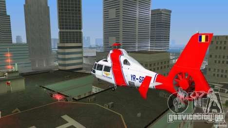 Eurocopter As-365N Dauphin II для GTA Vice City вид сзади