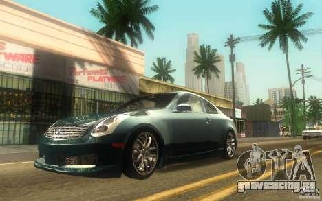 Infiniti G35 - Stock для GTA San Andreas