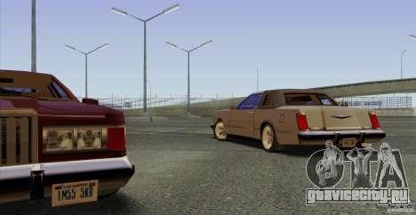 Virgo Continental для GTA San Andreas вид изнутри