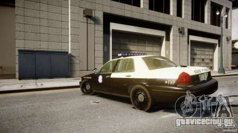 Ford Crown Victoria Fl Highway Patrol Units ELS для GTA 4 вид сзади слева