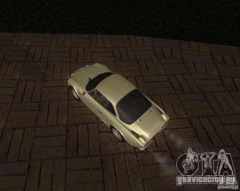 Renault Alpine 110 для GTA San Andreas вид сзади
