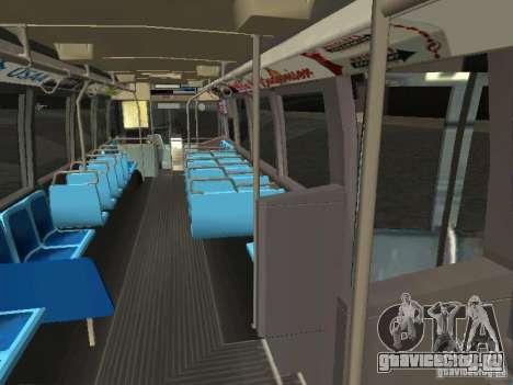 GMC RTS MTA New York City Bus для GTA San Andreas вид изнутри
