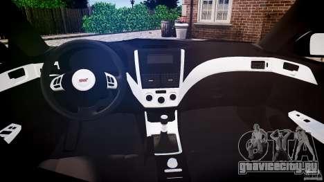 Subaru Impreza WRX 2011 для GTA 4 вид справа