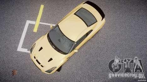 Nissan GTR R35 SpecV v1.0 для GTA 4 вид сзади