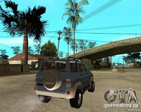 УАЗ Patriot 4х4 для GTA San Andreas вид сзади слева