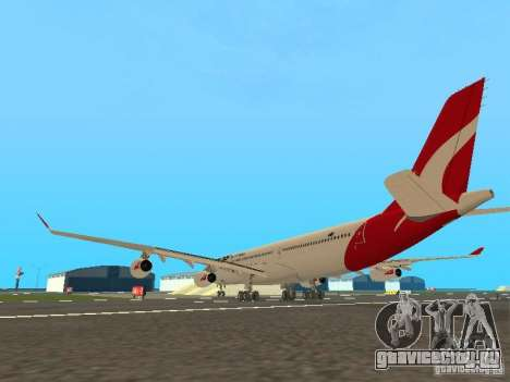 Airbus A340-300 Qantas Airlines для GTA San Andreas вид справа