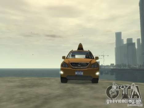 Lexus RX400 New York Taxi для GTA 4 вид сбоку