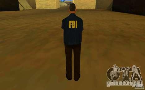 HQ skin FBI для GTA San Andreas четвёртый скриншот