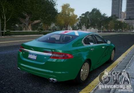 Jaguar XFR 2010 V.2.0 для GTA 4 вид слева