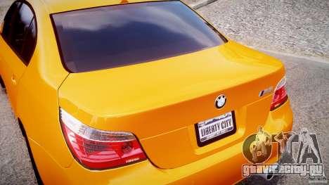BMW M5 E60 для GTA 4 вид сверху