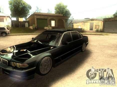 BMW 750iL для GTA San Andreas вид изнутри