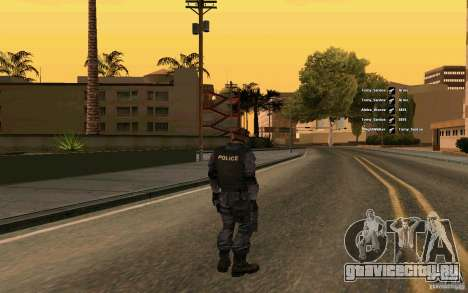 SWAT скин для GTA San Andreas второй скриншот