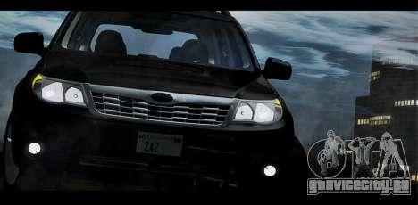 Subaru Forester XT 2008 для GTA San Andreas вид сверху