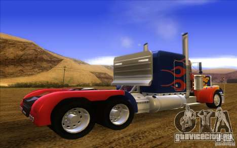 Truck Optimus Prime v2.0 для GTA San Andreas вид слева