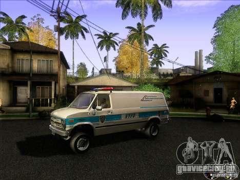 Chevrolet VAN G20 NYPD SWAT для GTA San Andreas вид слева