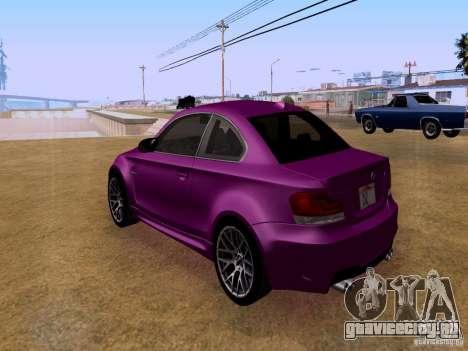 BMW 1M  2011 для GTA San Andreas вид сзади слева