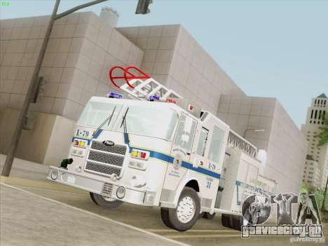 Pierce Puc Aerials. Bone County Fire & Ladder 79 для GTA San Andreas вид сзади слева