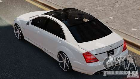 Mercedes-Benz S65 W221 AMG Vossen для GTA 4 вид слева