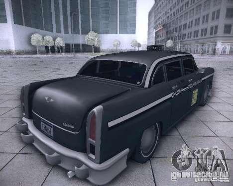 Diablo Cabbie HD для GTA San Andreas вид сзади слева