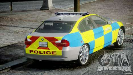 BMW 350i Indonesian Police Car [ELS] для GTA 4 вид сзади слева