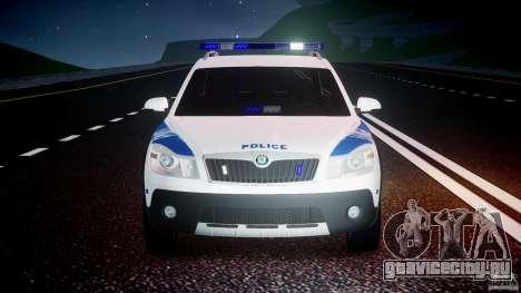 Skoda Octavia Scout NYPD [ELS] для GTA 4 салон