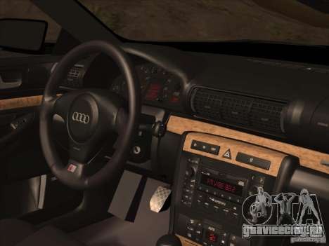 Audi S4 DatShark 2000 для GTA San Andreas вид снизу