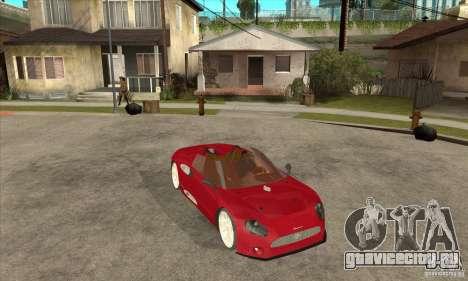Spyker C8 Spyder для GTA San Andreas вид сзади