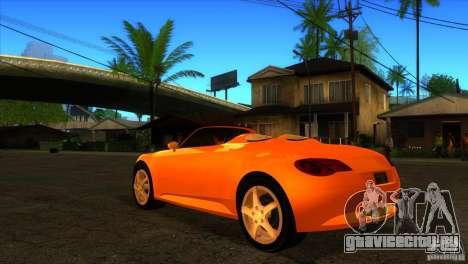 Volkswagen Concept R для GTA San Andreas вид сзади слева