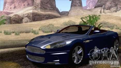 Aston Martin DBS Volante 2009 для GTA San Andreas вид изнутри