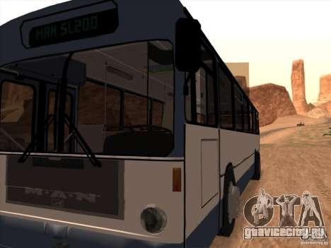 MAN SL200 Exclusive v.1.00 для GTA San Andreas вид изнутри